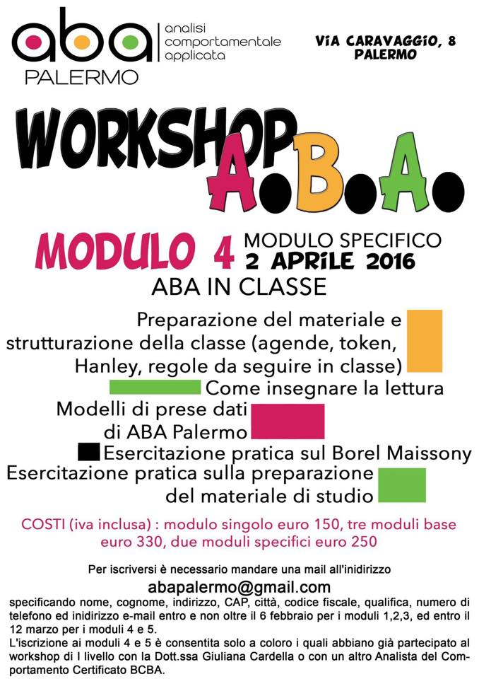 WORKSHOP ABA 2016